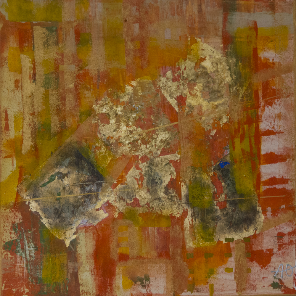 Kraft I,  50 x 50 cm, akryl på lerret