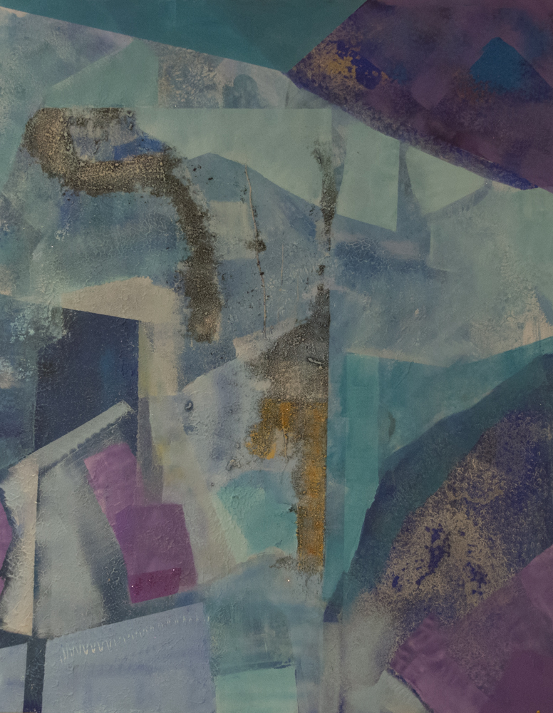 Symfoni II, 100 x 80 cm, akryl på lerret