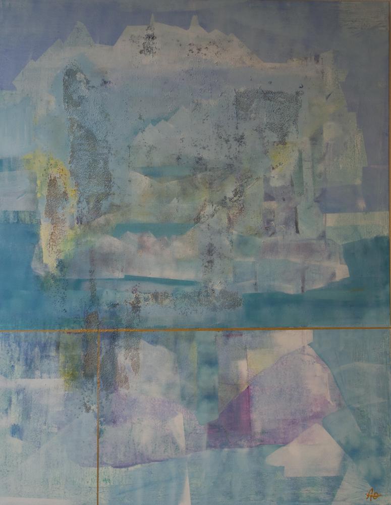 Vår i Arktis I , 100 x 80 cm, akryl på lerret